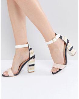 Ebony Blush Heeled Sandals