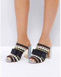 Flora Heeled Mule Sandals