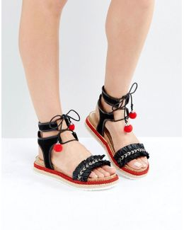Pebble Espadrille Flatform Sandals