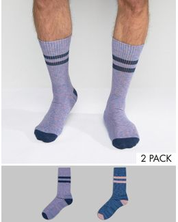 Sports Style Socks 2 Pack