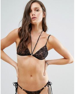 Hypnotic Lace Tri Bikini Top
