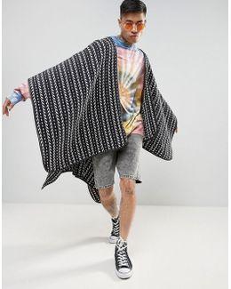 Festival Cape In Woven Design