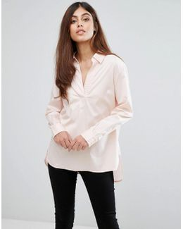 Neema Stitch Oversized Shirt