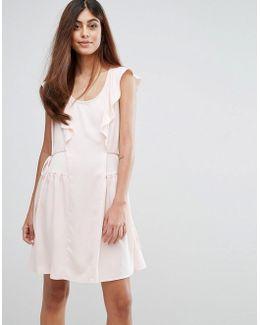 Nia Drape Capped Sleeve Mini Dress