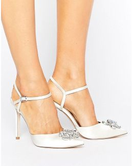 Peppermint Bridal Embellished Pointed High Heels