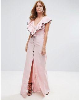 Ruffle Strap Maxi Dress