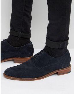 Joehal 2 Derby Shoes In Blue Suede