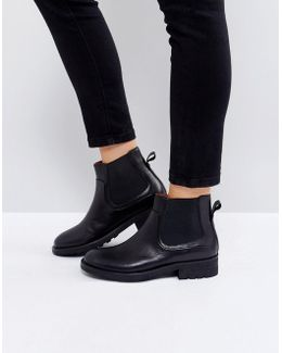 Carter Black Leather Chelsea Boots
