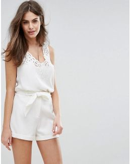 Scallop Lace Detail Singlet