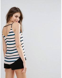 Stripe Bar Back Cami
