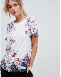 Floral Print Placement T-shirt