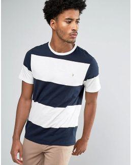 Woolacombe Block Stripe T-shirt Navy