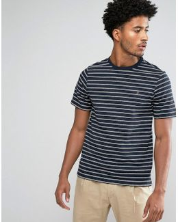 Kimmeridge Slim Fit Fine Stripe Tshirt Navy