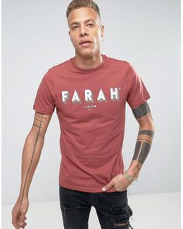 Haven Slim Fit Logo Text T-shirt Red