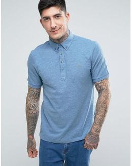 Merriweather Short Sleeve Marl Polo Shirt In Blue