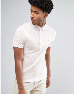 Merriweather Short Sleeve Marl Polo Shirt In Light Pink