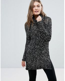 Longline High Neck Jumper