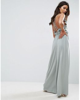 Jumpsuit With Frill And Extreme Wide Leg