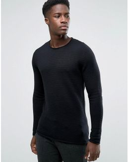 Rib Crew Neck Sweater