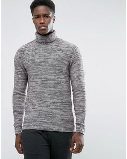 Roll Neck With Twisted Yarns