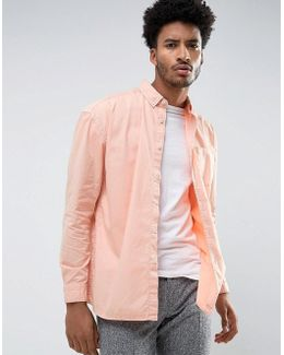 Oversized Shirt In Pink Overdyed Bleach Twill