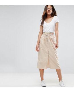 Midi Skirt Button Through