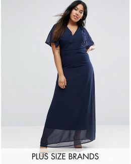 Plus Maxi Dress With Cape Back