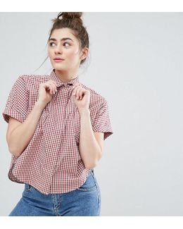 Gingham Boxy Shirt