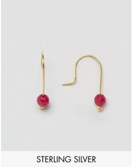Gold Plated Sterling Silver Mini Bead Earrings