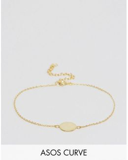 Gold Plated Sterling Silver Disc Bracelet