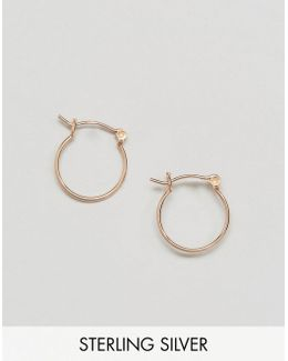 Rose Gold Plated Sterling Silver 15mm Hoop Earrings