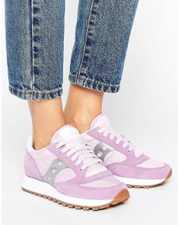 Exclusive Jazz Original Sneakers In Lilac & Silver