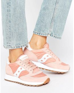 Exclusive Jazz Original Sneakers In Pink & White