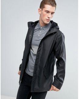 Shower Resistant Rain Coat In Black