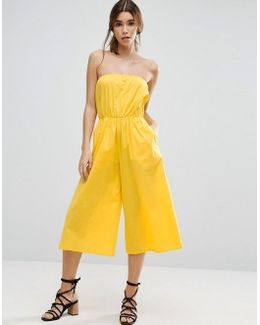 Bandeau Jumpsuit In Cotton