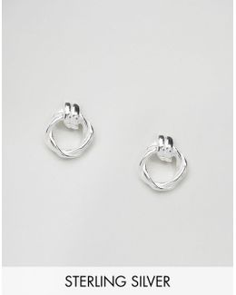 Sterling Silver Twist Knot Earrings