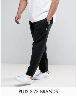Plus Cuffed Joggers Double Knit In Black