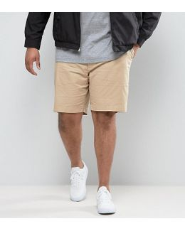 Plus Chino Shorts Stretch Twill In Beige