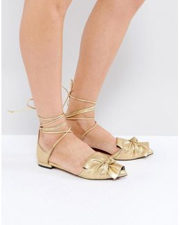 Lottery Knotted Ballet Flats