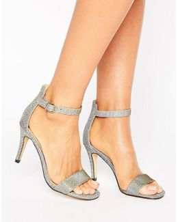 Metallic Barely There Sandals