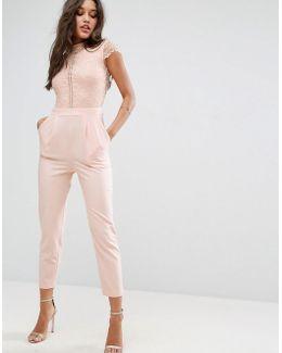 Lace Top Jumpsuit