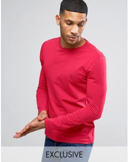 Long Sleeve Top Flag Logo In Red Exclusive To Asos