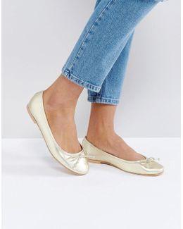 Luna Leather Ballet Flats