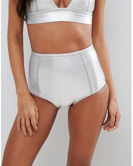 High Waisted Neoprene Bikini Bottom