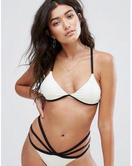 Rib Strappy Bikini Top