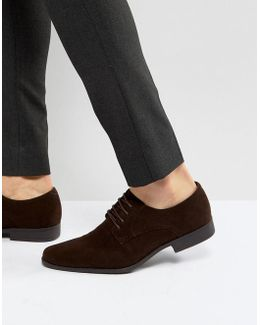 Derby Shoes In Faux Suede