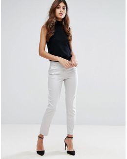 Jacquard Slim Leg Pant
