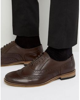 Braker Brogues In Brown Leather