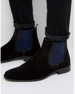 Marky Chelsea Boots In Black Suede