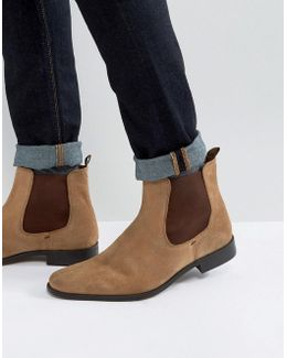 Marky Chelsea Boots In Tan Suede